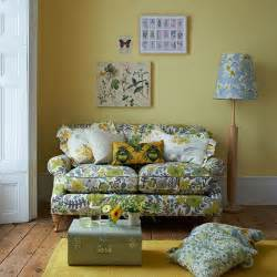 floral living room furniture yellow country style living room with floral sofa living room decorating housetohome co uk