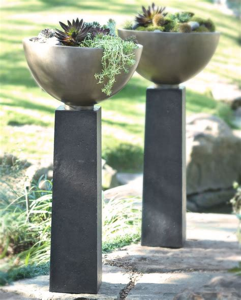 modern pots and planters modern planter contemporary outdoor pots and planters