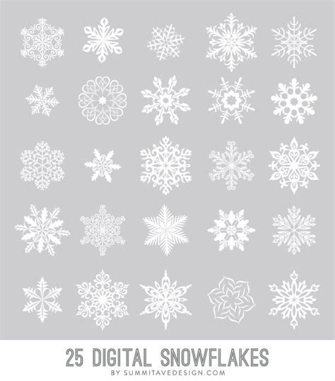 pattern photoshop snow digital snowflakes photoshop brush vector png files