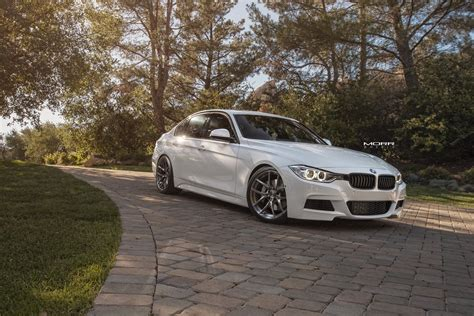Bmw F30 Tieferlegen by Alpine White Bmw F30 3 Series Gets Aftermarket Morr Wheels