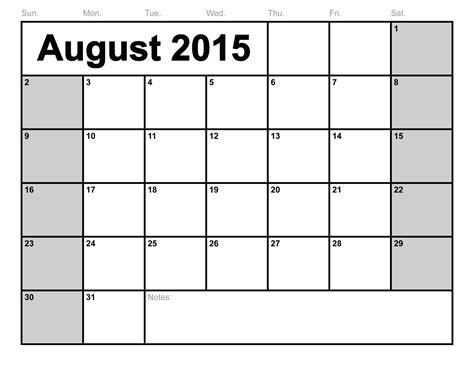 printable monthly calendars 2015 bio example