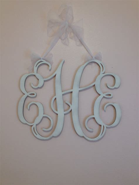 monogrammed gifts home decor girly wooden by