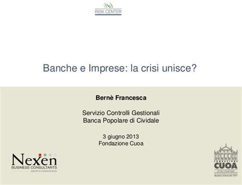 banche on line per imprese banche e imprese la crisi unisce