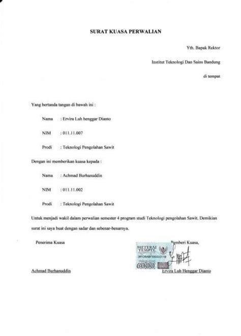contoh surat kuasa suratmenyurat net