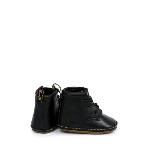Black Babyheels dr martens infant baby boys docs shoes black