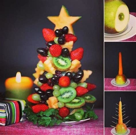oh loving this creative fruit salad christmas tree idea