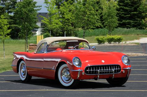 vintage corvette 1954 chevrolet corvette spangled corvette