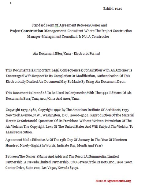 construction management agreement template construction contract template selimtd