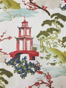 Dining Room Window Valances Pagoda Fabric Zen Asian Upholstery Fabric By Shopmyfabrics