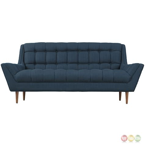 button tufted loveseat mid century modern response contemporary button tufted