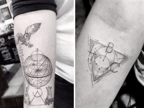 perspective tattoo 12 spectacular geometric tattoos that are beyond