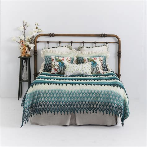 shabby chic duvet cover venetian lace in green ombre