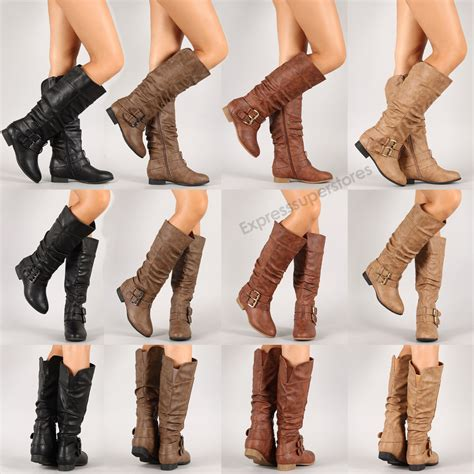 womens fashion boots womens new boots knee high fashion faux leather