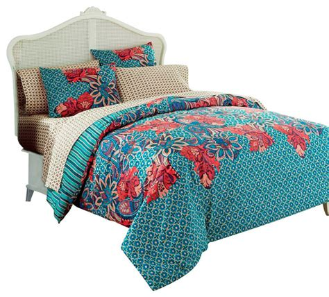 bright floral bedding rio bright floral modern twin comforter set contemporary