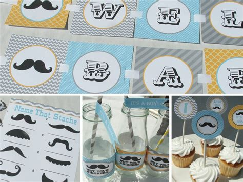 Mustache Baby Shower Decorations by Mustache Baby Shower Decorations Package Boy By Busychickadees