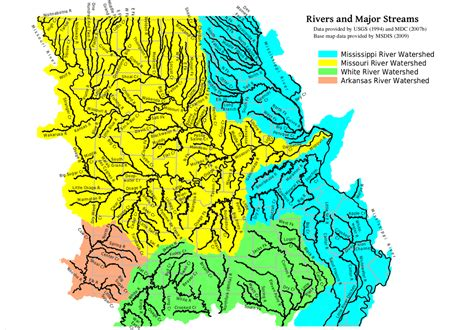 names of rivers mohap missouri major rivers map