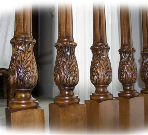 wood banisters balusters and wood balusters carved with acanthus leaf