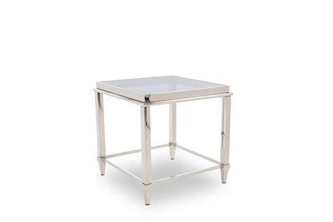 modern glass end tables modrest agar modern glass stainless steel end table