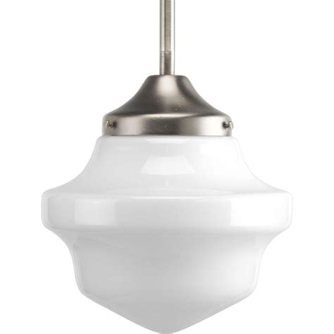 schoolhouse pendant light progress lighting schoolhouse collection brushed nickel 1