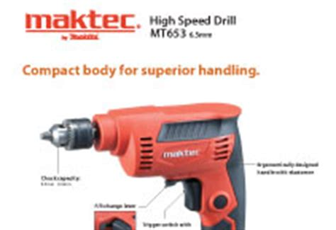 Maktec Bor 6 5mm Variable Mt 653 maktec power tools sa mt653 high speed drill