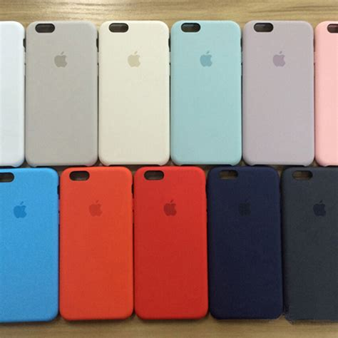 authentic oem multicolor silicone cover for apple iphone 6 6s plus ebay