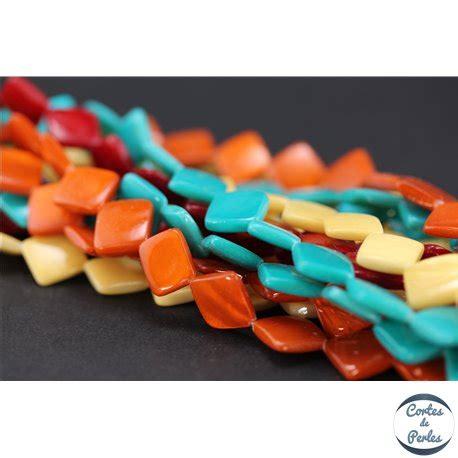 Epaisseur De Verre 4359 by Grossiste Perles En Nacre Carr 233 Es 14 Mm Multicolore Discount