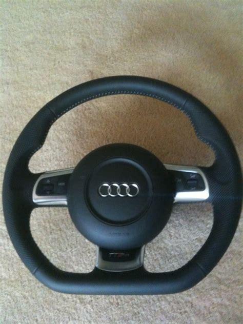 audi s4 flat bottom steering wheel brand new tt rs mfsw flat bottom steering wheel w airbag