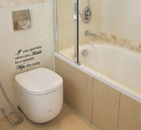 wall sticker bathroom if you sprinkle bathroom wall quote stickers wall decals ebay