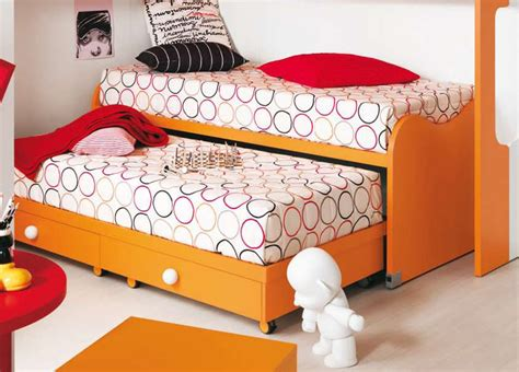 Two In Bed by Nuvola Children S Bed With Pull Out Spare Bed Modern