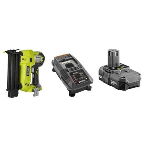 ryobi 18 volt brad nailer kit with battery and charger