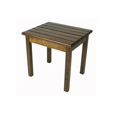 lowes patio side table shop garden treasures 19 in x 16 in wood rectangle