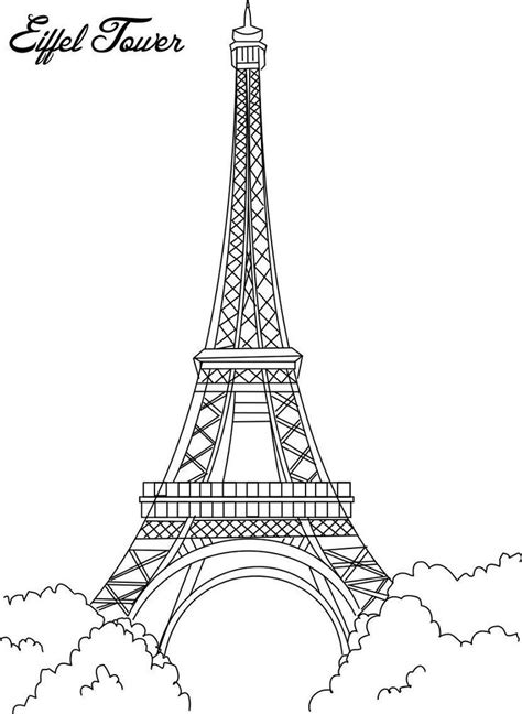 france eiffel tower coloring page eiffel tower coloring printable page for kids coloring