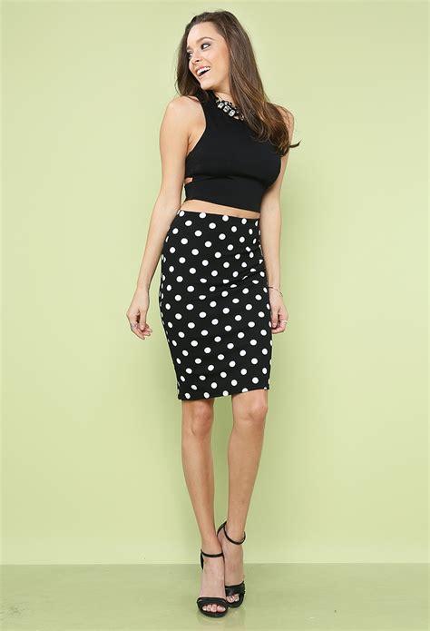 Polka Dot Pencil polka dot pencil skirt shop at papaya clothing