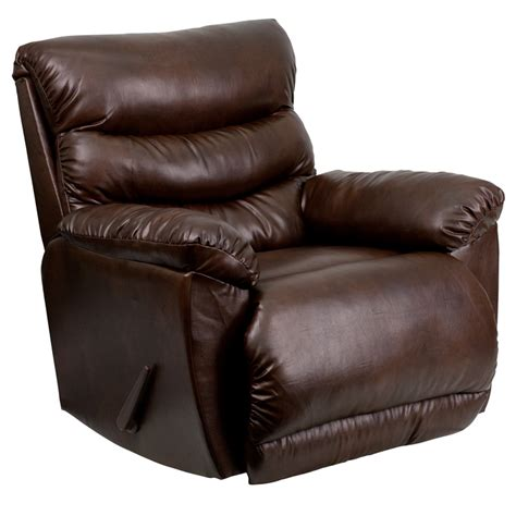 modern rocker recliners flash furniture contemporary tonto espresso bonded leather