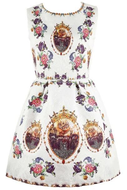 Crown Dress dress a line dress crown crown print vintage dress