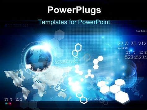 high tech powerpoint templates powerpoint template hi tech digital background with globe