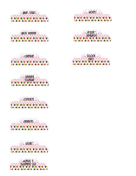 free printable planner dividers weekly blog goals printable planner dividers