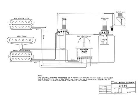 guitar wiring drawings switching system cort x5 i x6 pict