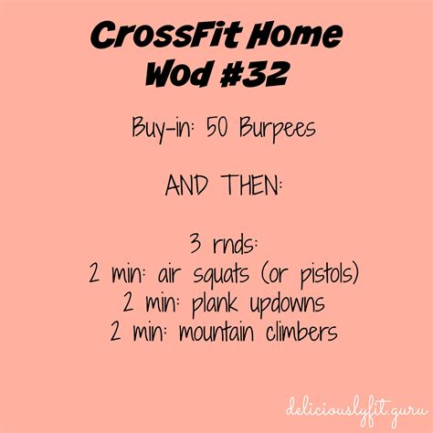 crossfit home wod 32 deliciously fit