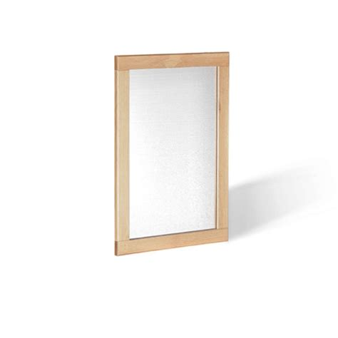 pacific wall mirror in solid oak frame 26215 furniture in