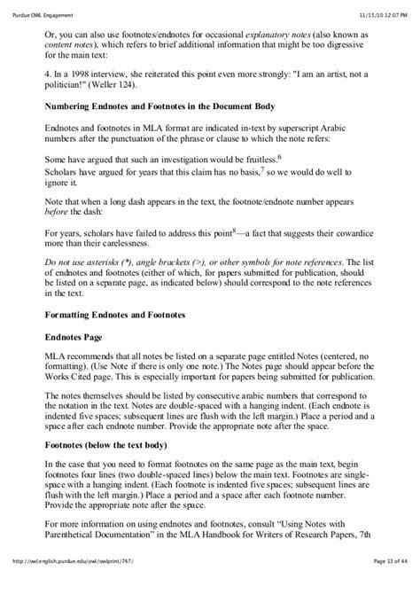 format footnote spacing mla style guide