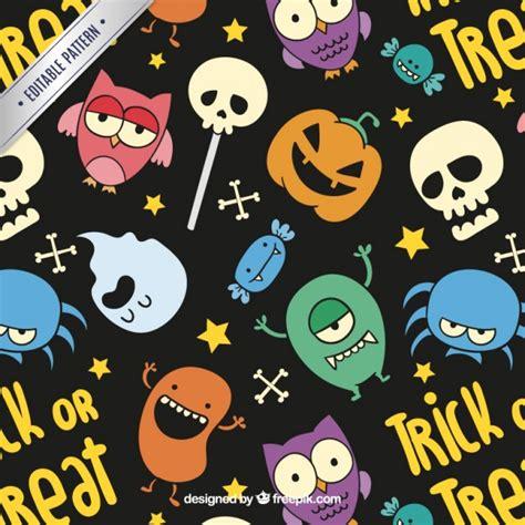 imagenes de halloween animadas gratis patr 243 n de halloween colorido en estilo de dibujos animados