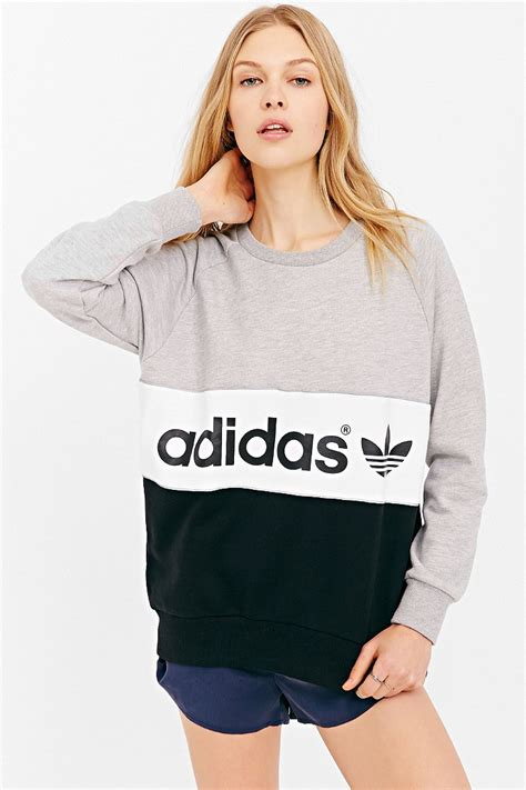Sweater Adidas 3 Colors adidas originals city sweatshirt in gray lyst