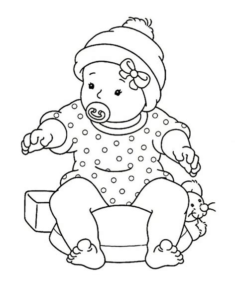 vintage baby coloring pages baby doll coloring pages coloring home
