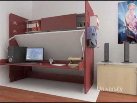 space saving desk bed hiddenbed space saving bed desk system youtube
