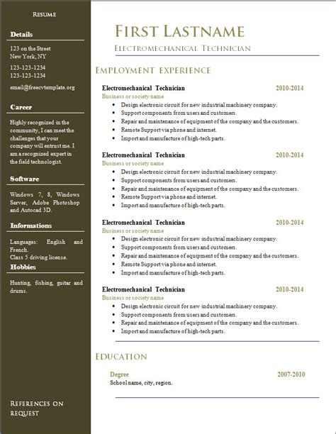 free resume cv templates 296 to 302 free cv template
