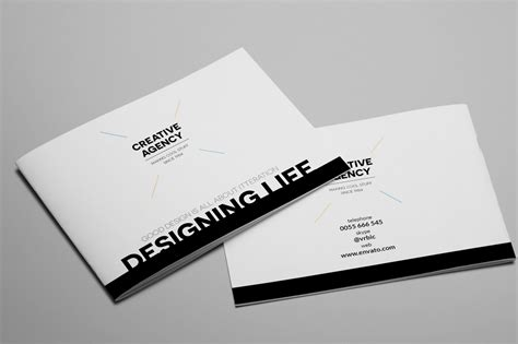 Creative Agency A5 Brochure Indesign Brochure Templates On Creative Market A5 Brochure Template Indesign