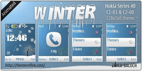 nokia c2 moving themes winter animated theme for nokia c1 01 c2 00 themereflex