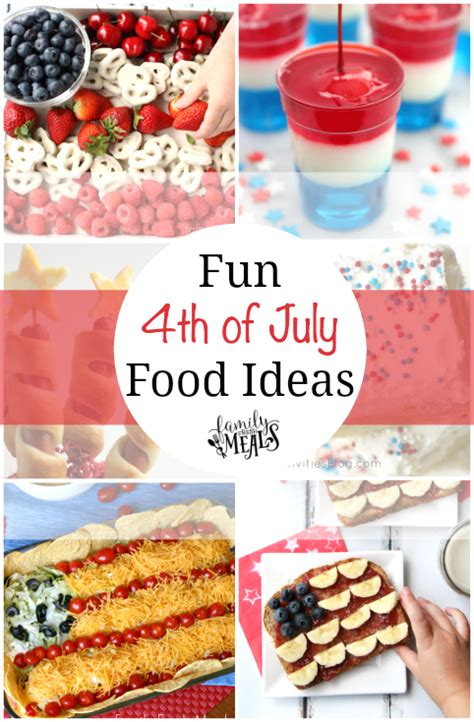 in july food ideas 4th of july food ideas familyfreshmeals png
