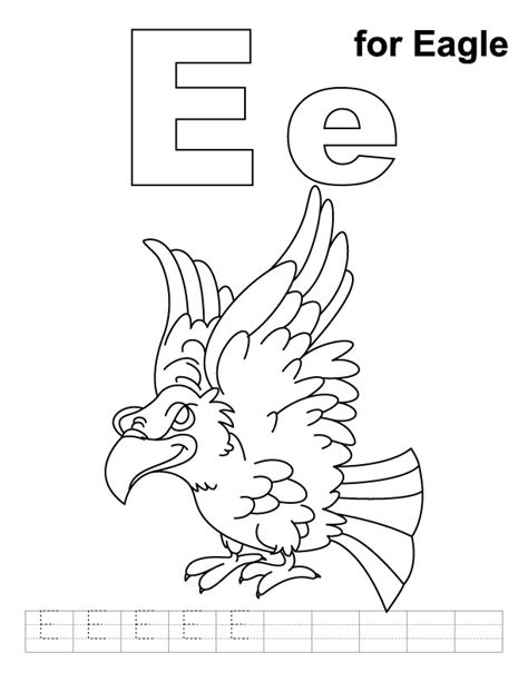 martial eagle coloring pages color e az colorare